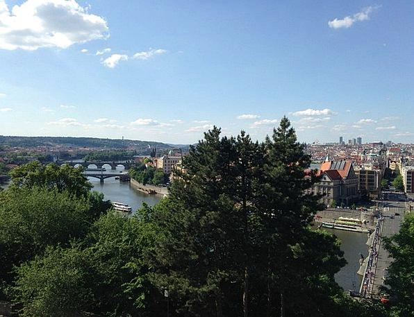 Prague Bonds Vltava Bridges River Stream
