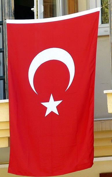 Turkey Standard Turkish Flag Crescent Semicircular