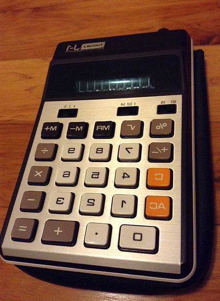 Calculator Adder Finance Out-of-date Business Busi