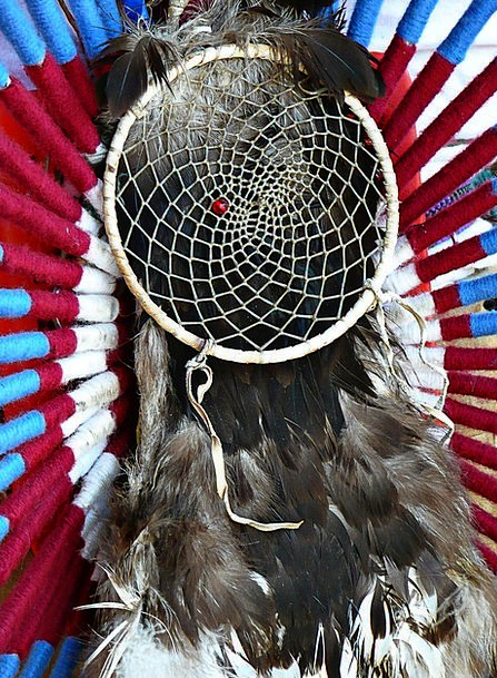 Dreamcatcher Quill Plume Trail Feather Powwow Indi