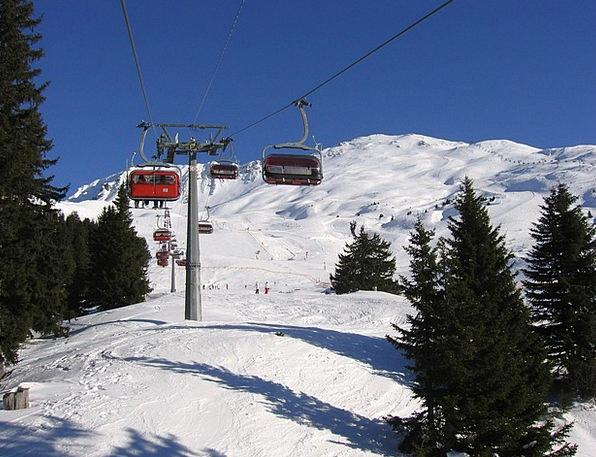 Ski Lift Crags Snow Snowflake Mountains Winter Sea