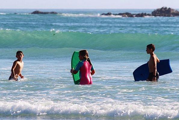 Children Broods Vacation Seashore Travel Swim Dip