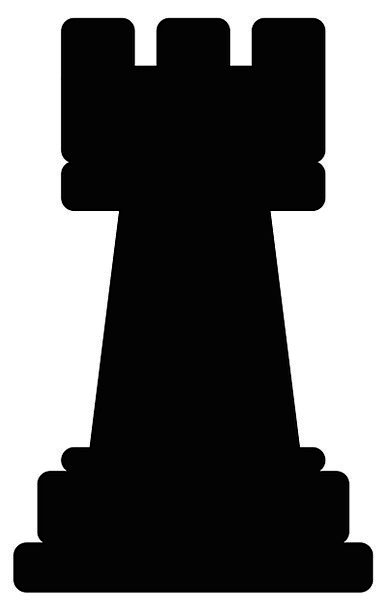 Chess Castle Fortress Rook Piece Part Game Silhoue