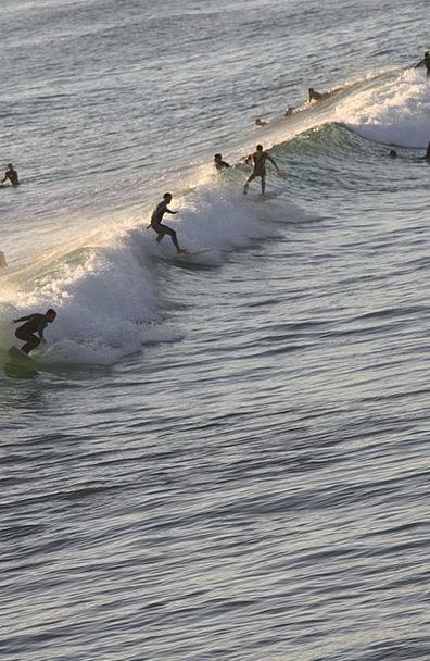 Surf Spray Sea Marine Biarritz Summer Straw-hat