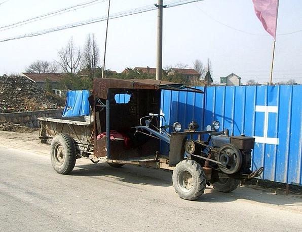 Tractor Traffic Car Transportation Farm Farmhouse