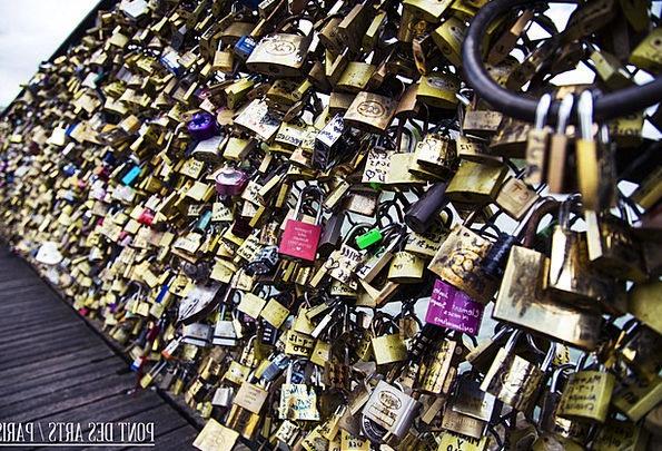 Pont Des Arts Paris France Lover Mistress Locks Lo