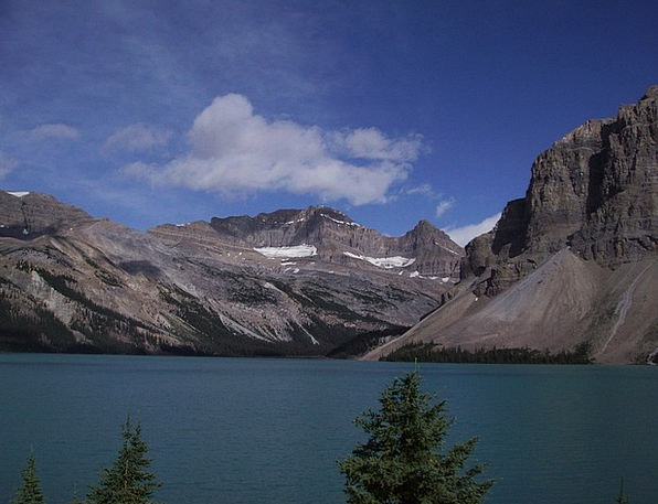 Bow Lake Landscapes Nature Banff Jasper Nature Nat