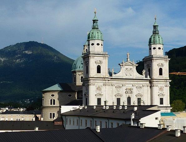 Salzburg Cathedral Frontage Barockklassizirend Fac