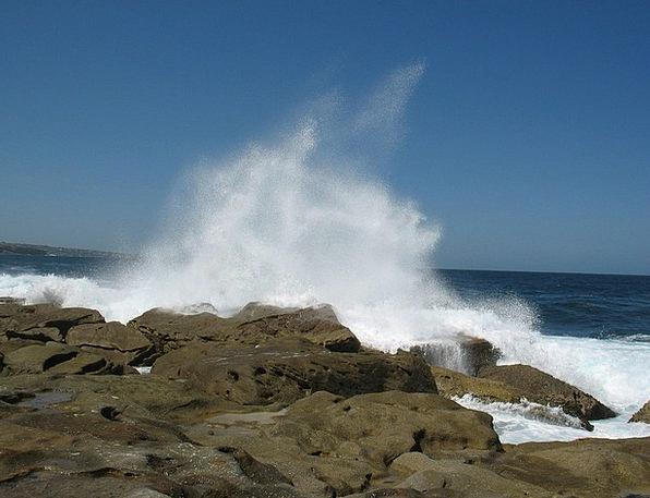 Wave Upsurge Vacation Travel Sydney Bondi Ocean Ma