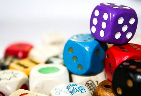 Cube Dice Production Colorful Interesting Play Blu