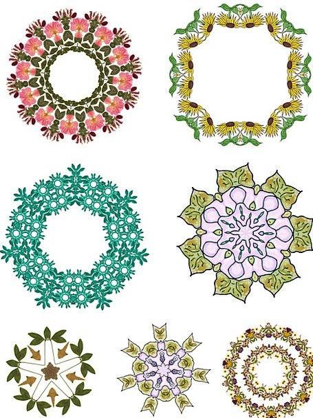Flower Floret Craft Flowery Industry Frames Edges