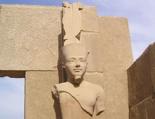 Egypt Karnak Luxor Statue Figurine Pharaonic Head