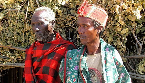 Men Menfolk Tribe People Arbore Ethiopia