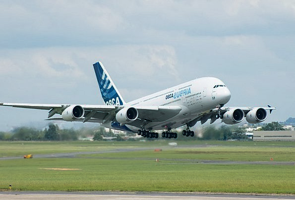 Airbus Airplane A380 Fly Jet Plane Aircraft Runway