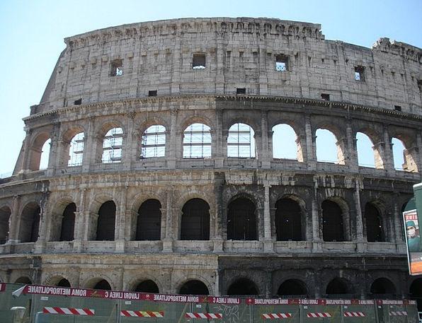 Colosseum Buildings Architecture Italy Rome Amphit