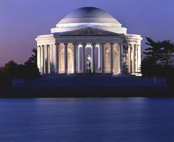 Jefferson Memorial Monuments Places Dusk Twilight
