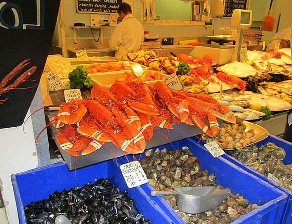Market Stall Lobster Sea Animals Crabs Market Fish