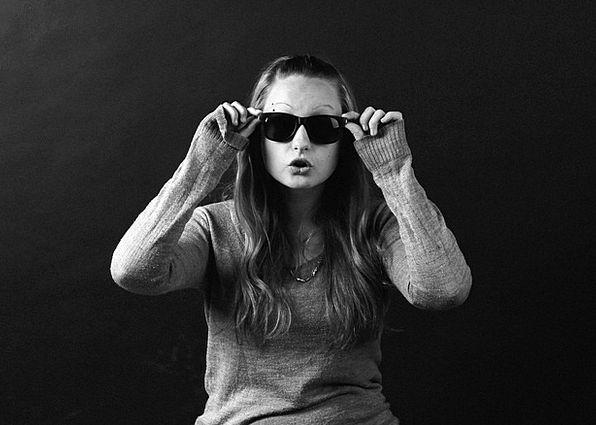 Girl Lassie Unique Sample Example One Glasses Stud