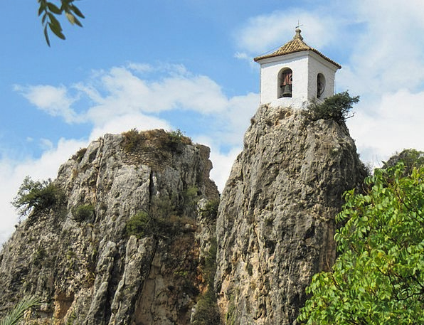 Castle Fortress Spain Guadalest Rock Pillar Chapel