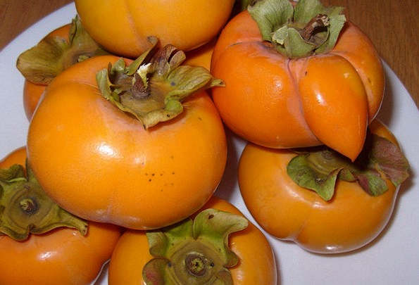 Persimmons Drink Ovary Food Healthy Fit Fruit Vege
