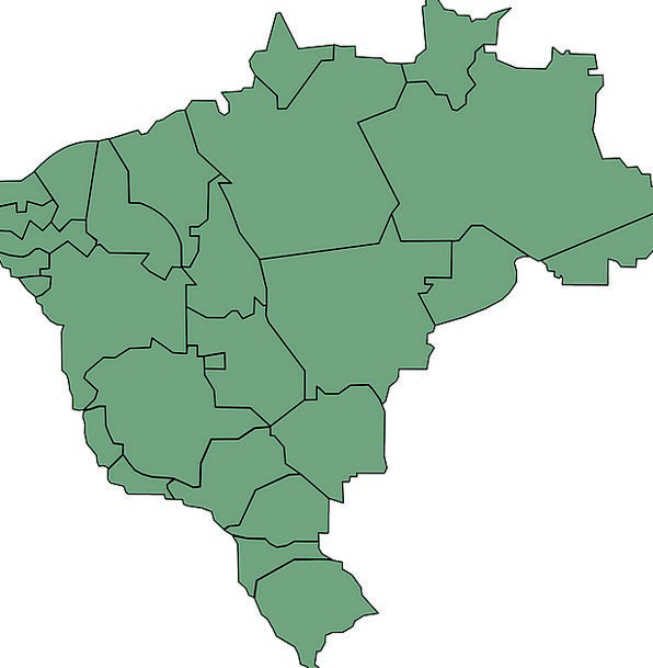 Brazil Chart South America Map States Conditions B
