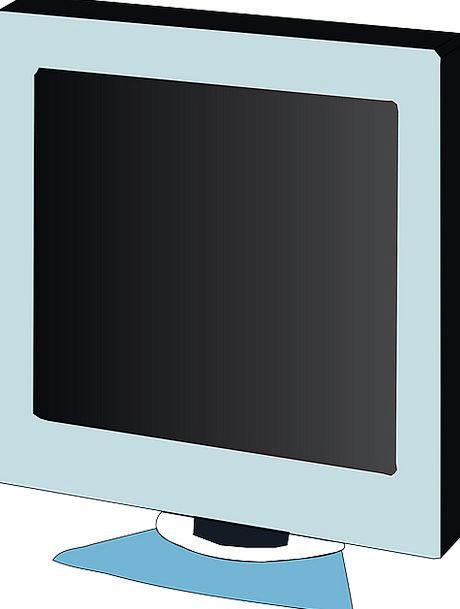 Lcd Screen Shade Monitor Flat Level Free Vector Gr