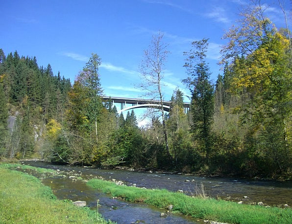 Wertach Stream Highway Bridge River Allgäu
