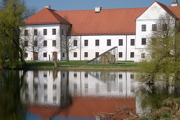 Monastery Cloister Buildings Architecture Water Re
