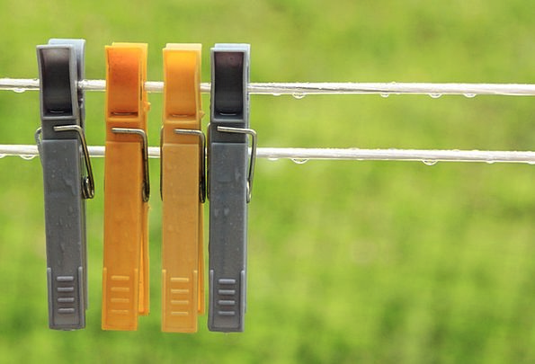 Colored Tinted Droopy Hooks Pegs Hanging Laundry W