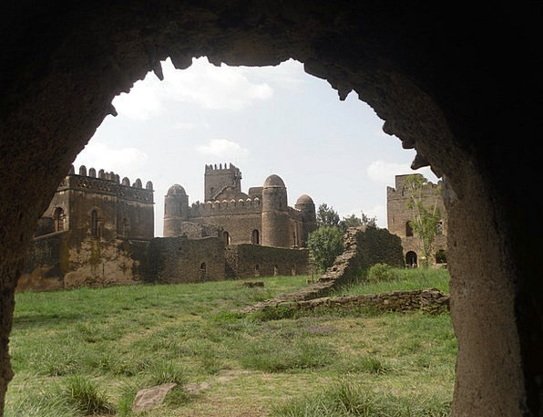 Gonder Monuments Fortress Places Ethiopia Castle M
