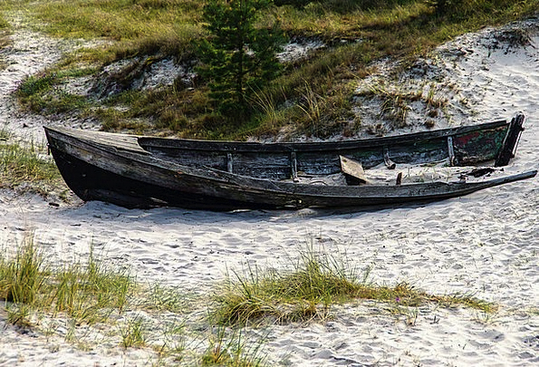 Baltic Sea Vacation Travel Weathered Worn Wooden B