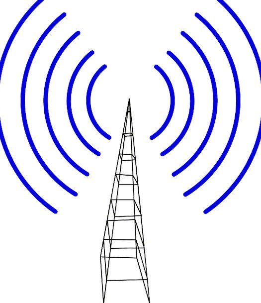 Cell Tower Spreader Waves Surfs Transmitter Steel