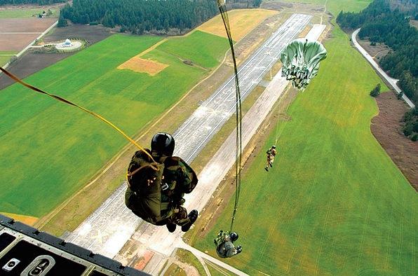 Parachutist Round Caps Paratrooper Skydiving Free-