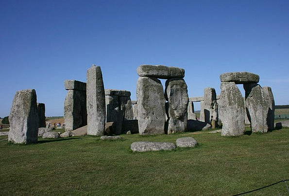 Stonehenge Blue Sky England Stone Pebble
