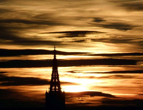 Ulm Vacation Travel Sunset Sundown Münster Sunrise