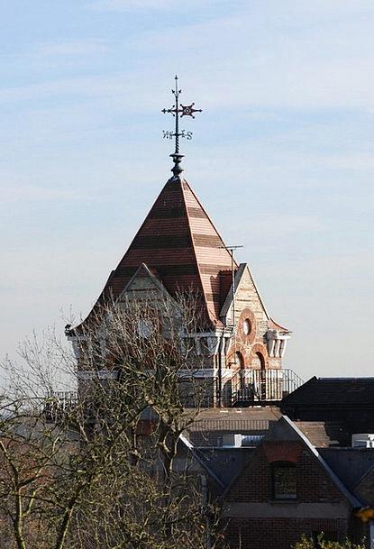 Weather Vane Barbican Roof Rooftop Tower Tiles Sla
