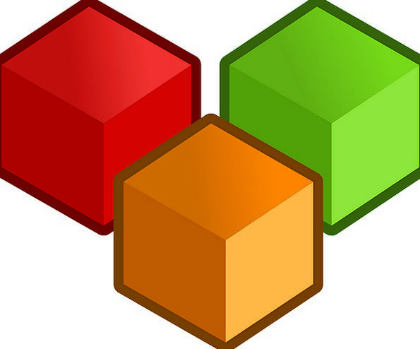Cubes Dices Objects Substances Three Playing Red B