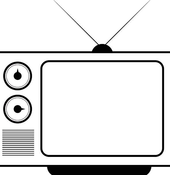 Tv Vintage Out-of-date Television Free Vector Grap