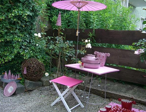Garden Furniture Flushed Garden Plot Pink Pottery