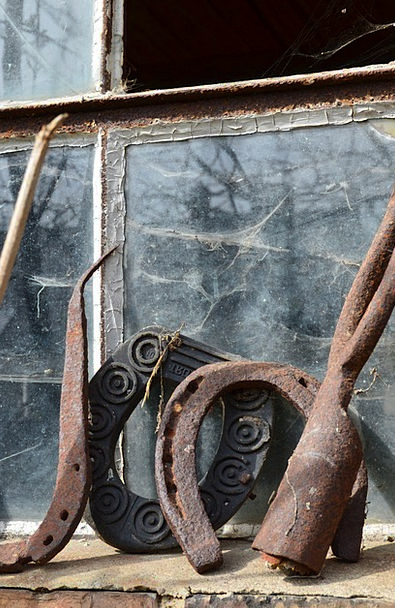 Horseshoe Talisman Instrument Iron Firm Tool Old A