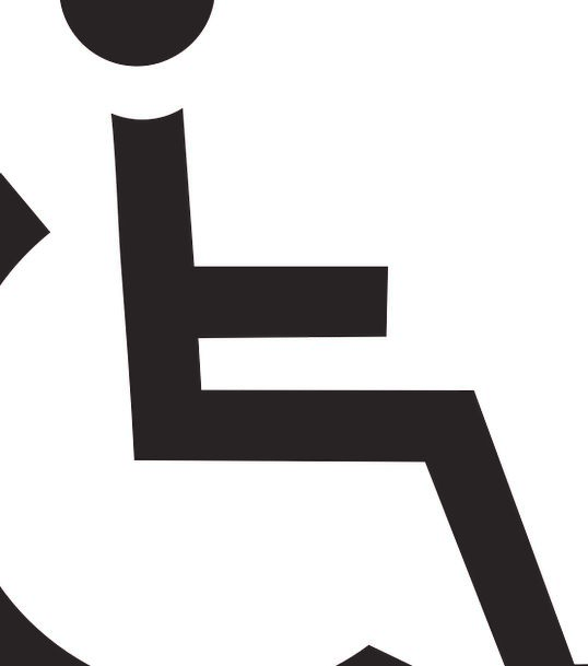 Wheelchair Fonts Shield Protection Characters Rule