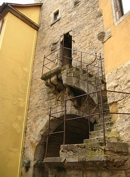 Stairs Staircases Castle Fortress Middle Ages Grad