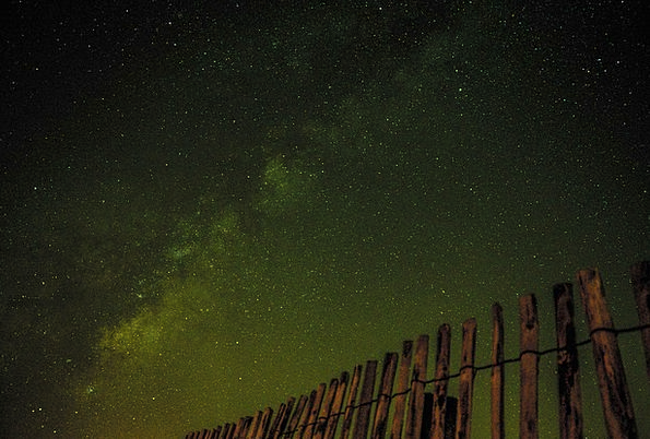 Milky Way Stars Costars Nightsky Universe Fence Ba