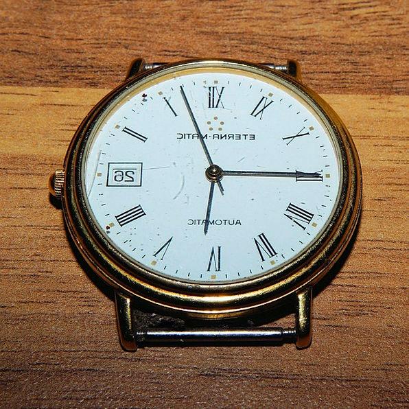 Clock Timepiece Eterna-Matic Swiss Watch Automatic