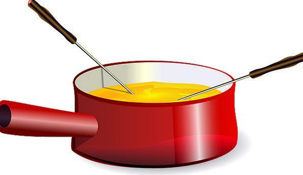 Fondue Drink Food Pot Vessel Cheese Set Pan Eating