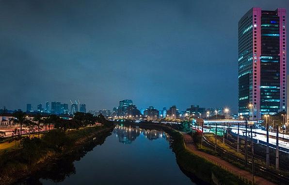 Cityscape Nightly Lights Illuminations Night Refle