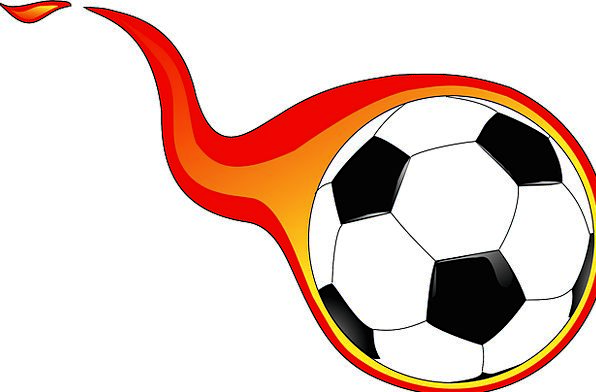 Ball Sphere Football Soccer Kick Flaming Blazing S