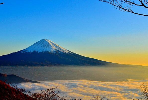 Mt Fuji Sunrise Dawn Sea Of Clouds