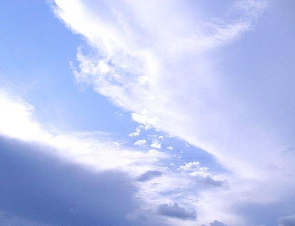 Sky Vapors Blue Azure Clouds Sunny Cloudscape Over
