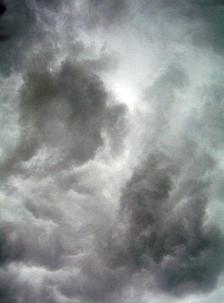 Dark Dim Vapors Sky Blue Clouds Cloudscape Dramati